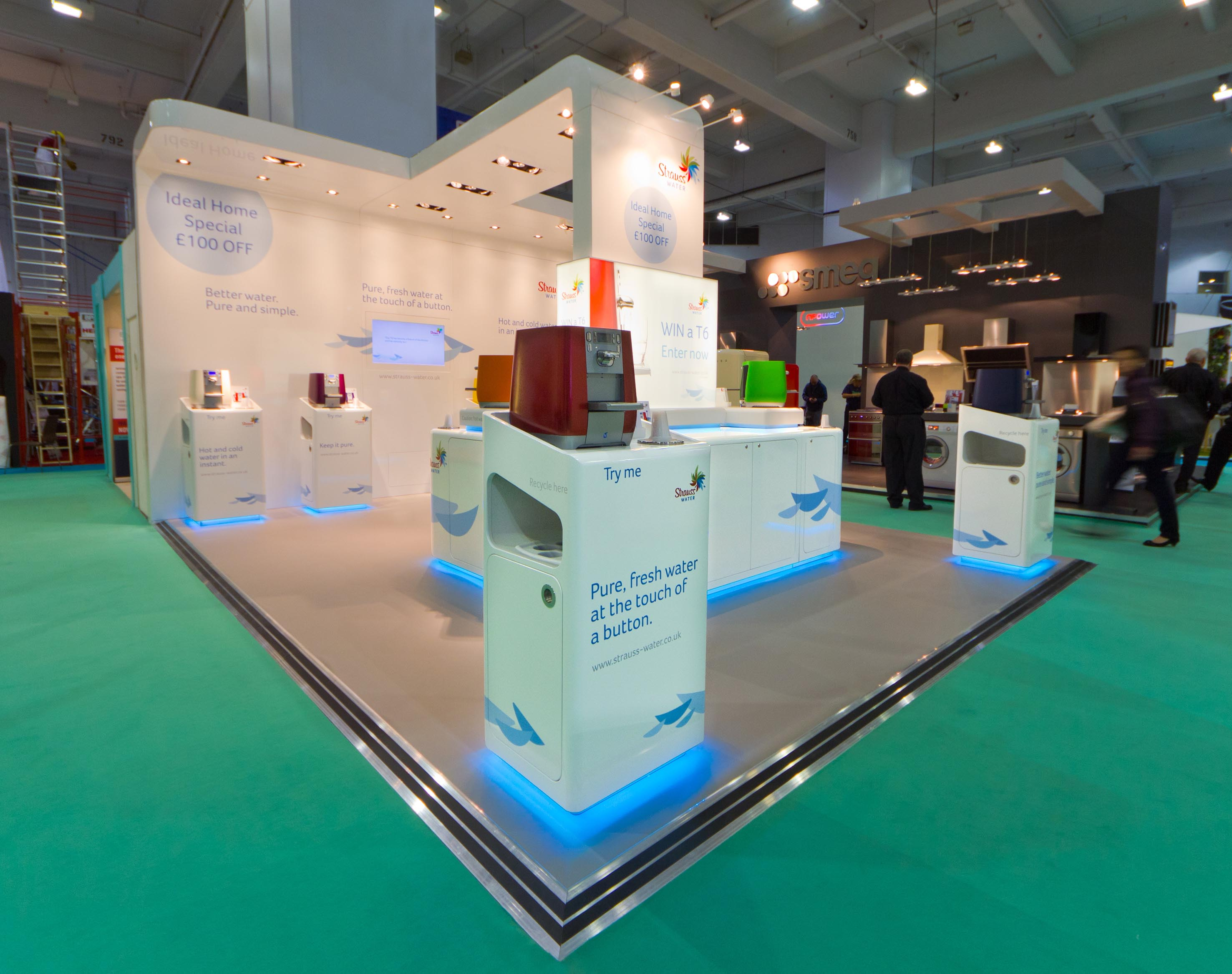 Exhibition Stand Water : Helix d strauss water