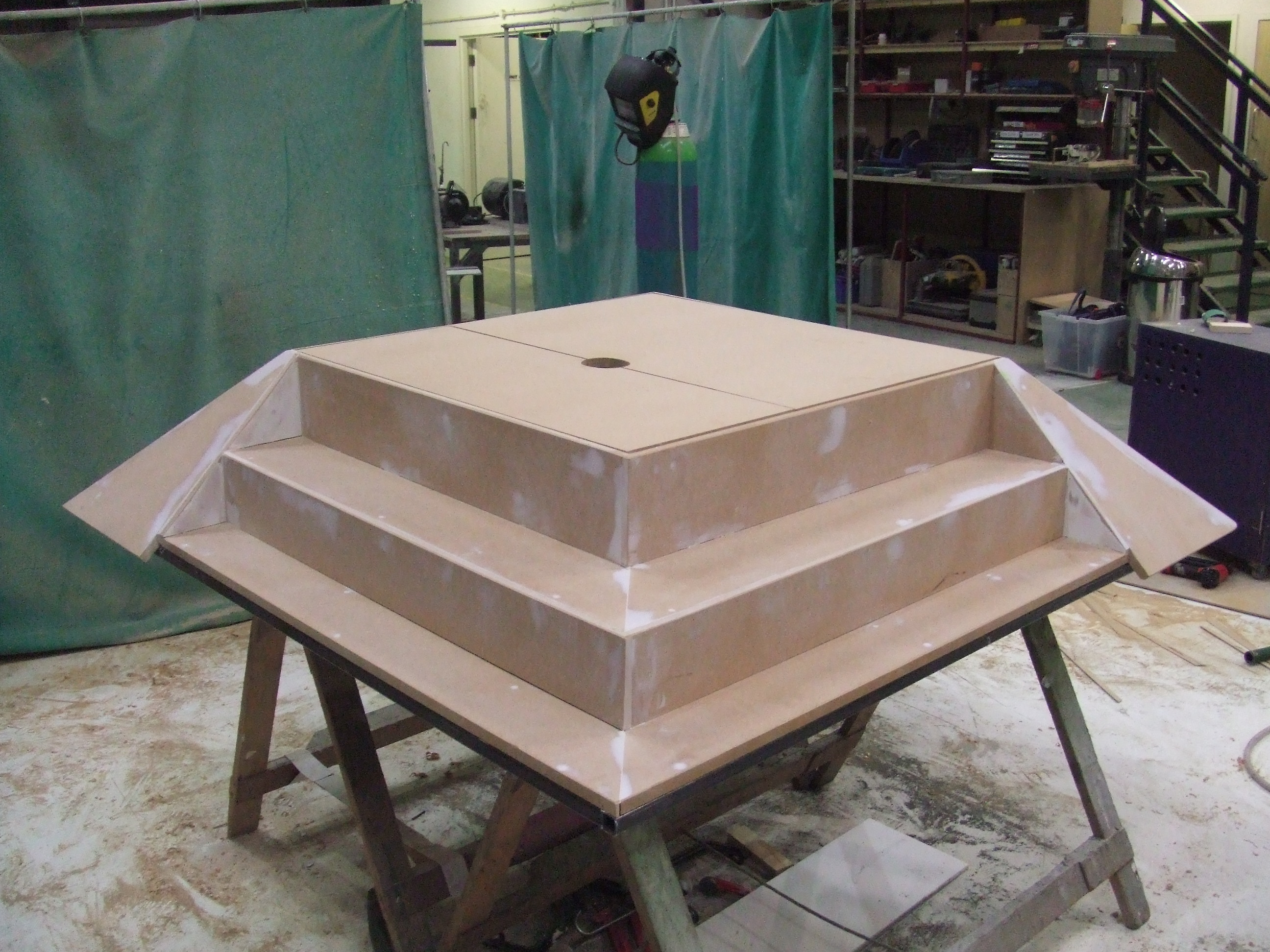 Syringe base unit in the workshop